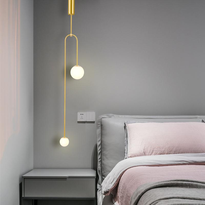 铜网红创意客厅北欧装饰小吊灯