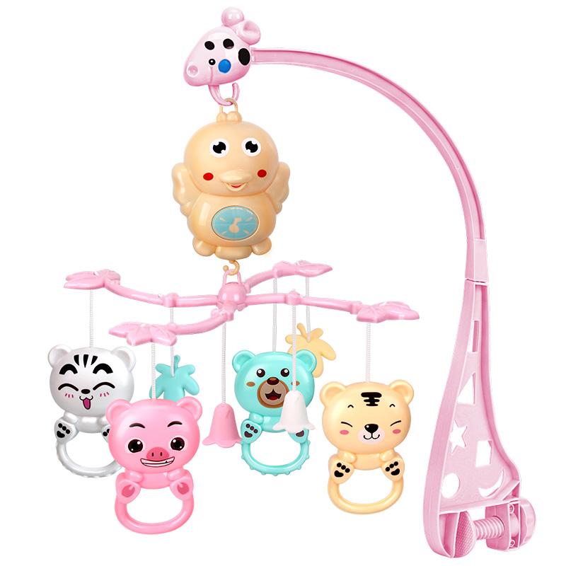 0-1岁新生儿音乐旋转床铃婴儿玩具3-6-12个月宝宝床头铃摇铃床挂