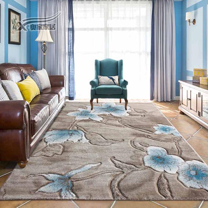 進口品質歐式茶几地毯客廳 北歐現代簡約中式美式臥室床邊地毯墊