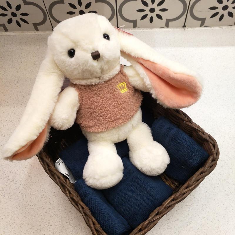 长耳公主兔子公仔儿童房陪睡毛绒玩具儿童抱枕送女孩女生生日礼物