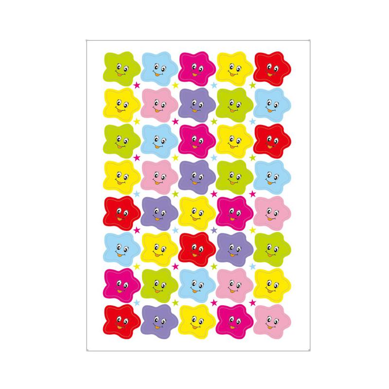 【60张6720个小号笑脸】学生卡通开学文具大拇指奖励贴纸幼儿园脸贴儿童教师表扬男女五角星红花笑脸星星贴画