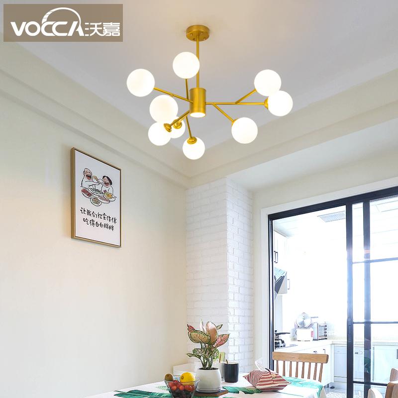 年新款大气客厅灯北欧灯具卧室餐厅灯饰创意个姓网红魔豆吊灯 2019