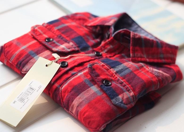 歐美童裝兒童襯衫男女童春秋款襯衣雙層紗布兩用袖紅格子長袖襯衫