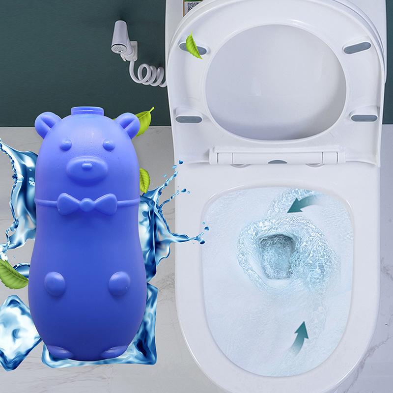 蓝泡泡马桶自动清洁剂洁厕灵除臭耐用冲厕所小熊洁厕宝杀菌5瓶装