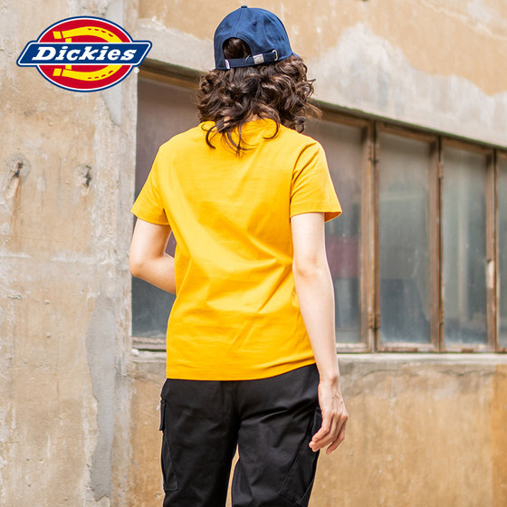 [same In Shopping Mall] Dickies Logo Printed Short Sleeve T-shirt Women's Casual Cotton Top 7518