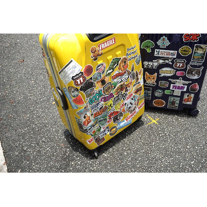 日默瓦贴纸防水行李箱贴纸欧美城市复古潮牌个性滑板贴画40枚
