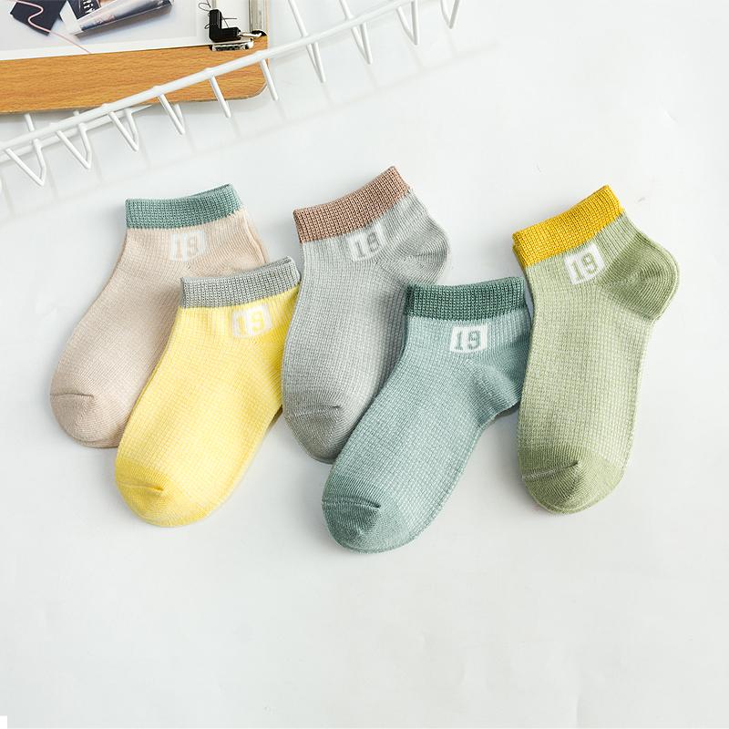 儿童袜子夏季薄款网眼春夏夏袜纯棉男童女童夏天童袜船袜宝宝婴儿