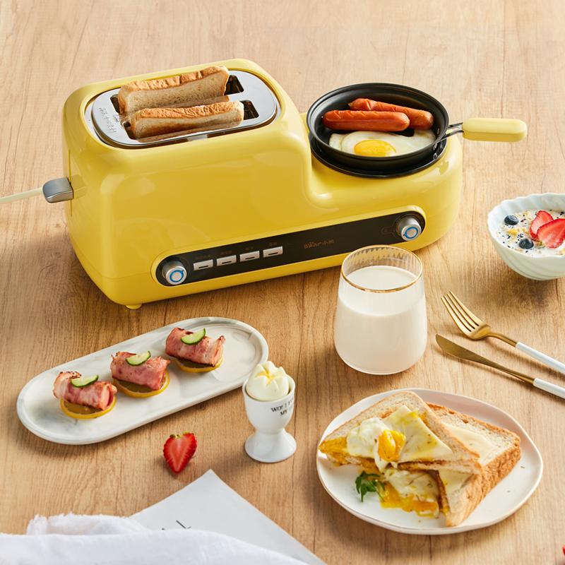 Bear/小熊 DSL-A02Z1 多士炉全自动家用早餐烤面包机煮煎蛋一体机