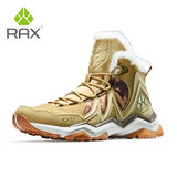 RAX snow boots women's outdoor shoes men's warm cotton shoes short tube shoes plus velvet snow shoes women's hiking in autumn and winter