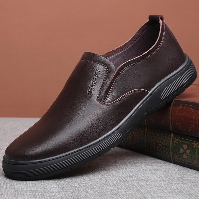 码 47 46 45 加肥加宽大号软底舒适男鞋真皮男士商务休闲大码皮鞋男