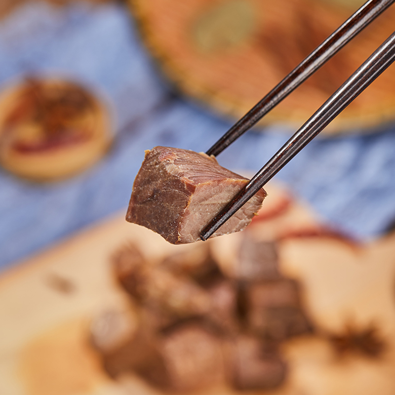 健身低脂牛肉即食五香牛肉熟食牛肉类小零食 薄荷健康