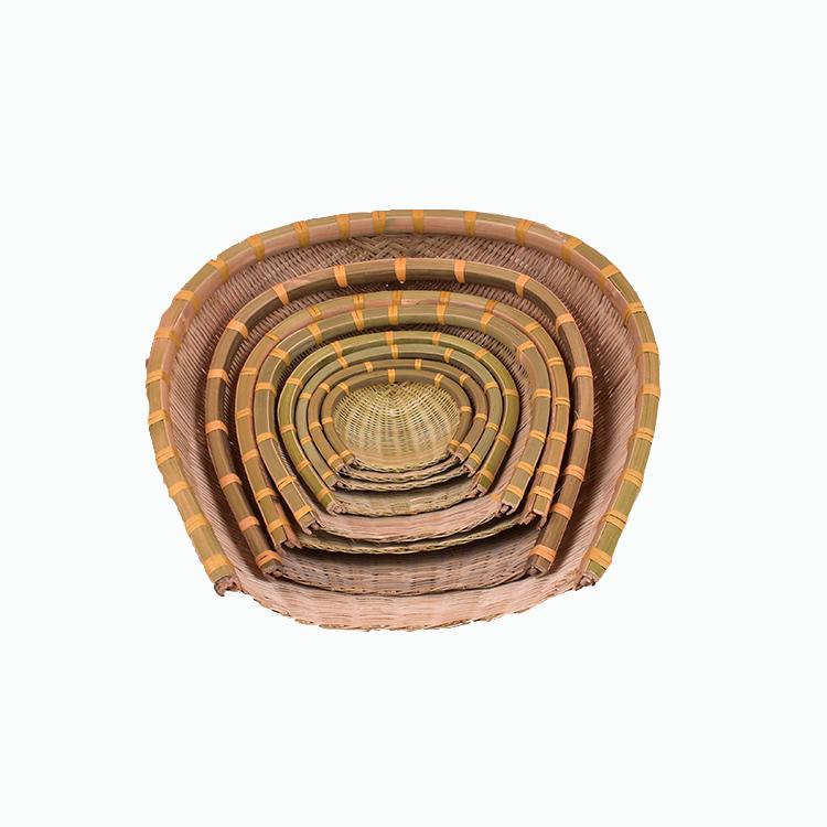 竹编簸箕竹筐竹篓竹盘 筲箕竹筛 淘米火锅篮 沥水篮 农庄用品畚箕