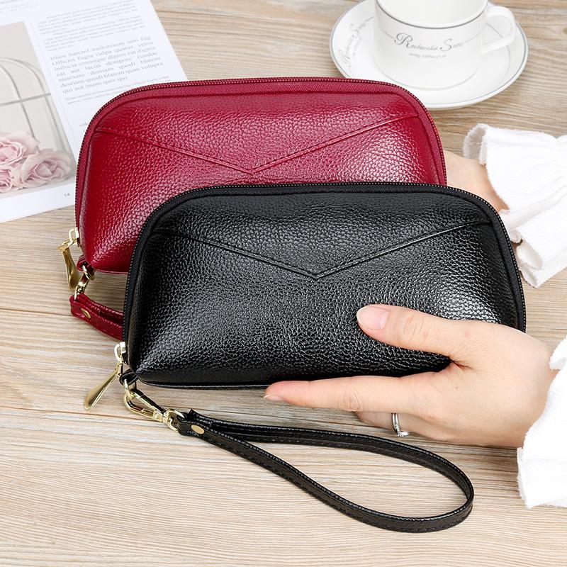 新款女长款钱包时尚大容量手拿包零钱包手机包拉链包手抓包女小包