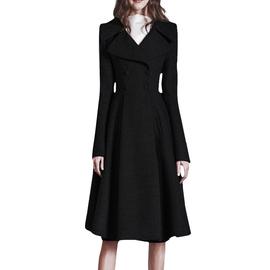 2020新款春季女装品牌羊绒大衣女羊毛呢子外套修身收腰显瘦中长款
