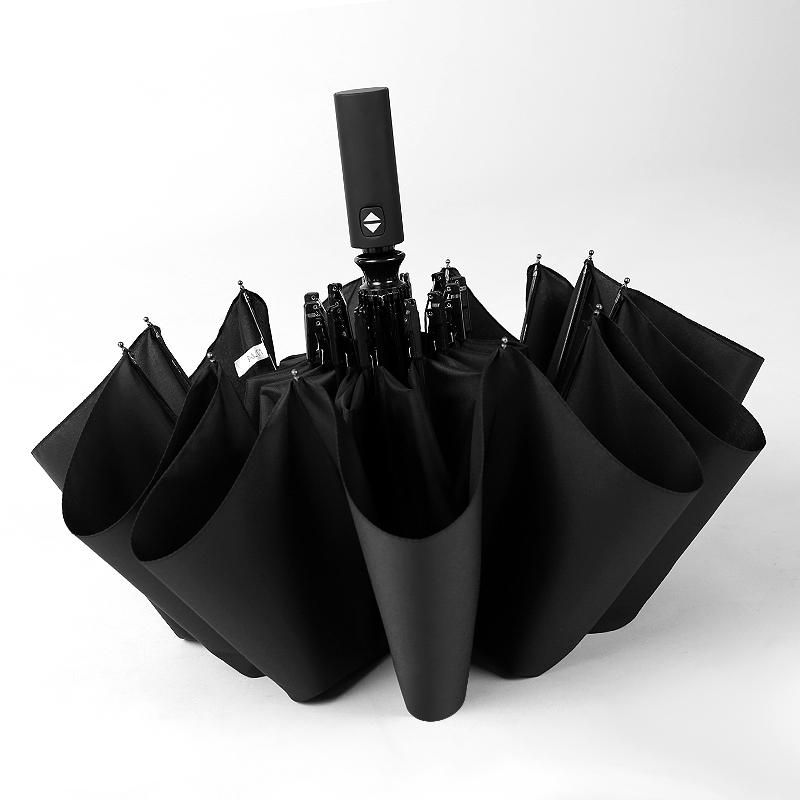 双人全自动折叠黑胶防晒网红ins雨伞男女学生潮流晴雨两用太阳伞