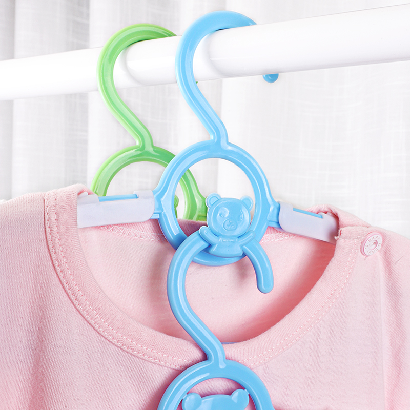【20个】儿童多功能伸缩衣架