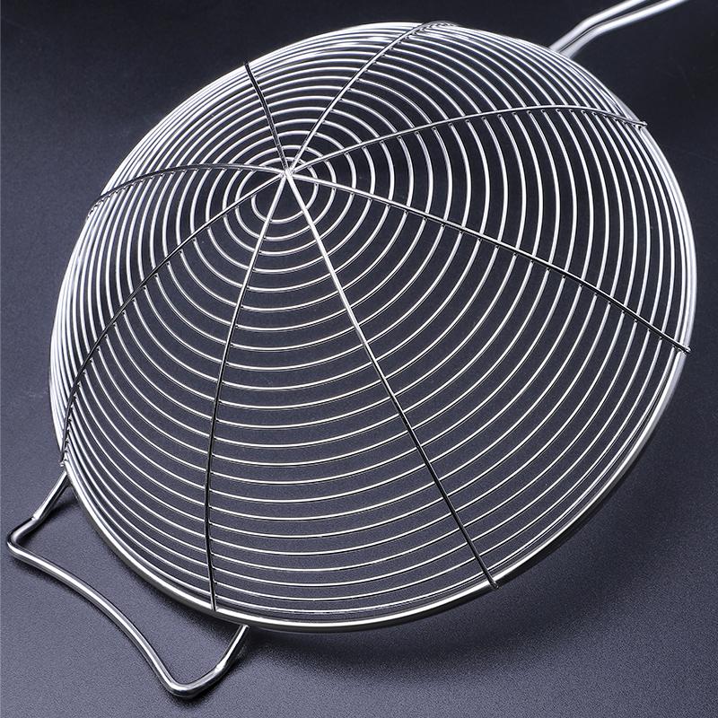 304不锈钢漏勺过滤网勺家用捞面饺子网筛小厨房油炸大号火锅笊篱