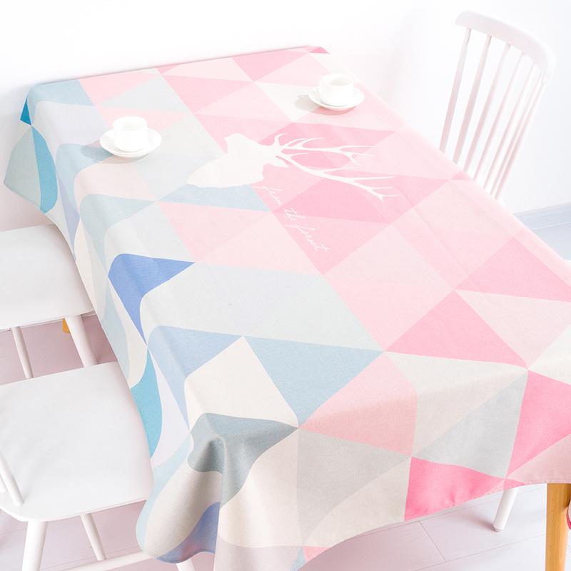 北歐ins桌布布藝長方形茶几電視櫃桌布防水現代簡約棉麻餐桌布