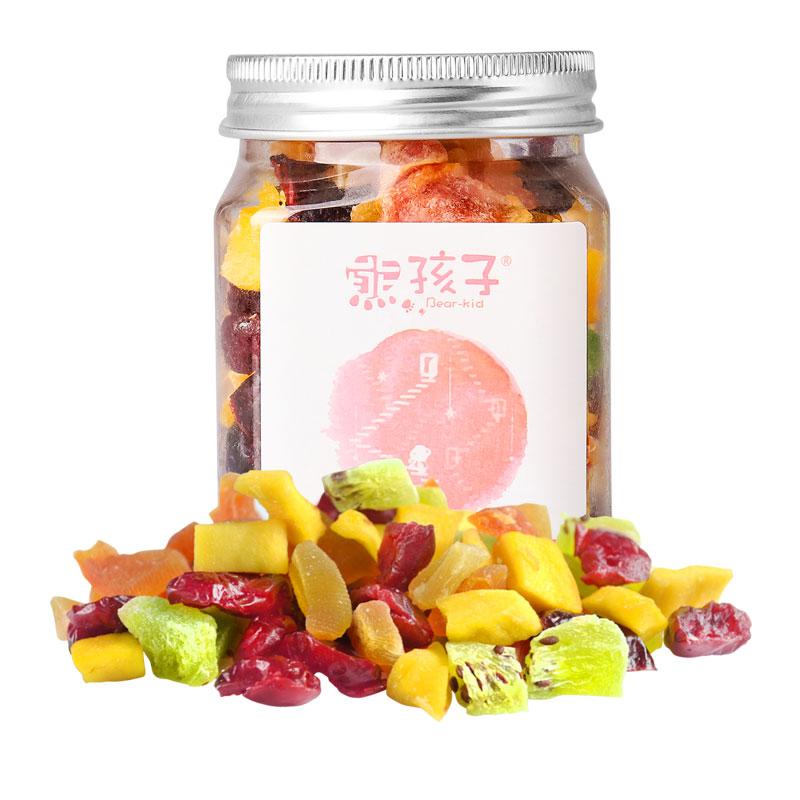 熊孩子缤纷水果干118g罐装混合芒果蔓越莓猕猴桃菠萝