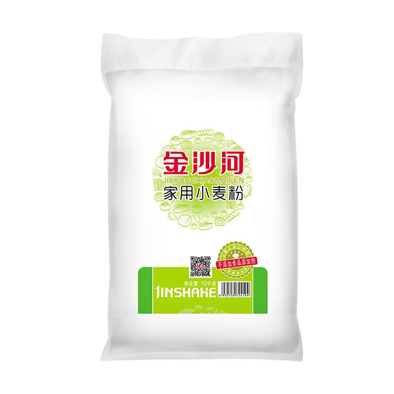 金沙河通用面粉家用小麦粉10KG面条 馒头烘焙原料 白面粉