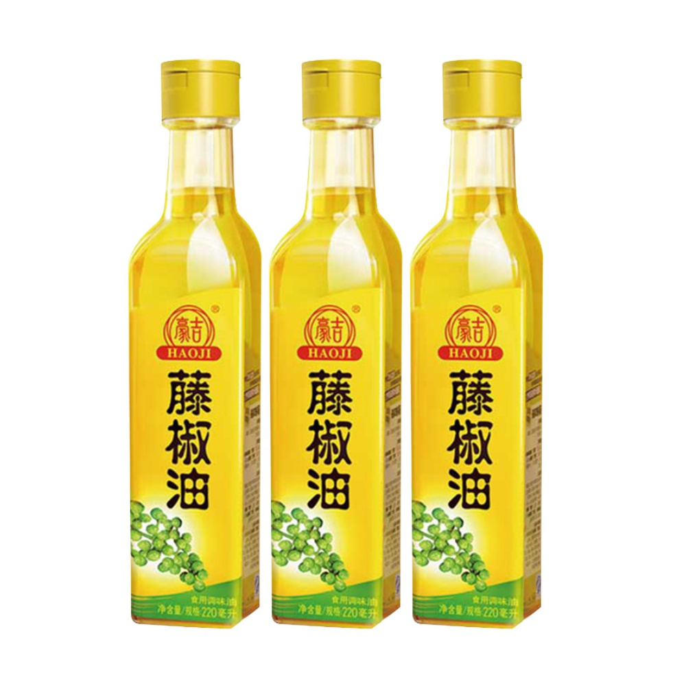 包邮雀巢豪吉藤椒油220ml*3瓶代替麻油花椒油拌菜炒菜火锅调味料