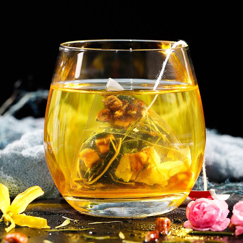 葛根双茶绛酸高橘红菊苣根淡竹尿竹正品 3 克 90 青源堂菊苣栀子茶