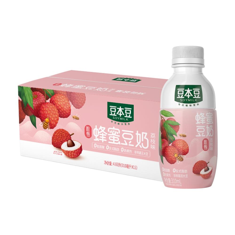 豆本豆蜂蜜豆奶310ml*15瓶