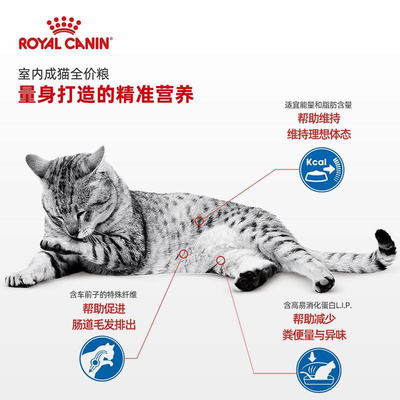 皇家猫粮I27室内成猫猫粮英短蓝猫美短布偶成猫通用粮1-7岁2kg优惠券