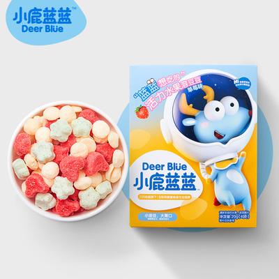 【包邮】小鹿蓝蓝益生菌酸奶溶豆宝宝零食入口即溶20g×1盒