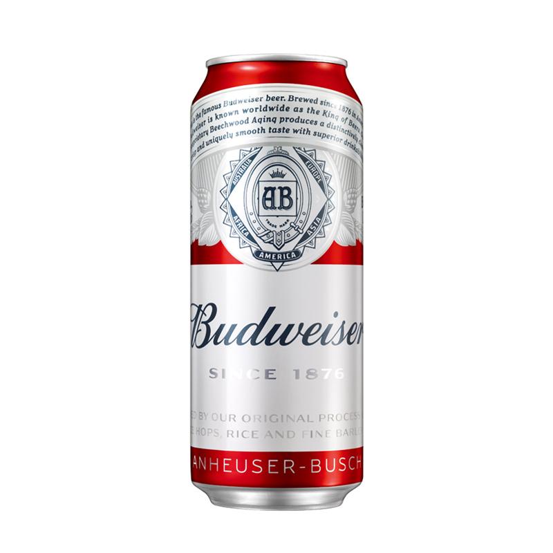 普通罐 听 500ml 百威啤酒小麦醇正拉罐 Budweiser