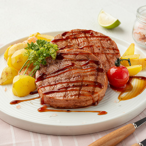 小牛凯西菲力牛排黑椒腌制家庭套餐牛扒5片儿童牛肉新鲜冷冻生鲜