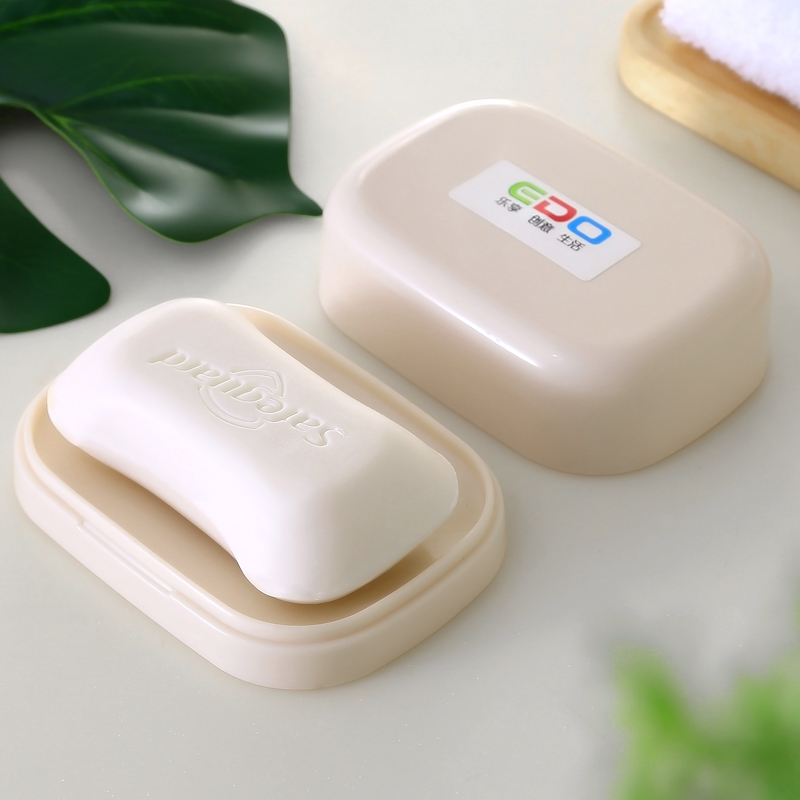 Edo温馨时尚创意肥皂盒 带盖防水彩色皂盒颜色随机