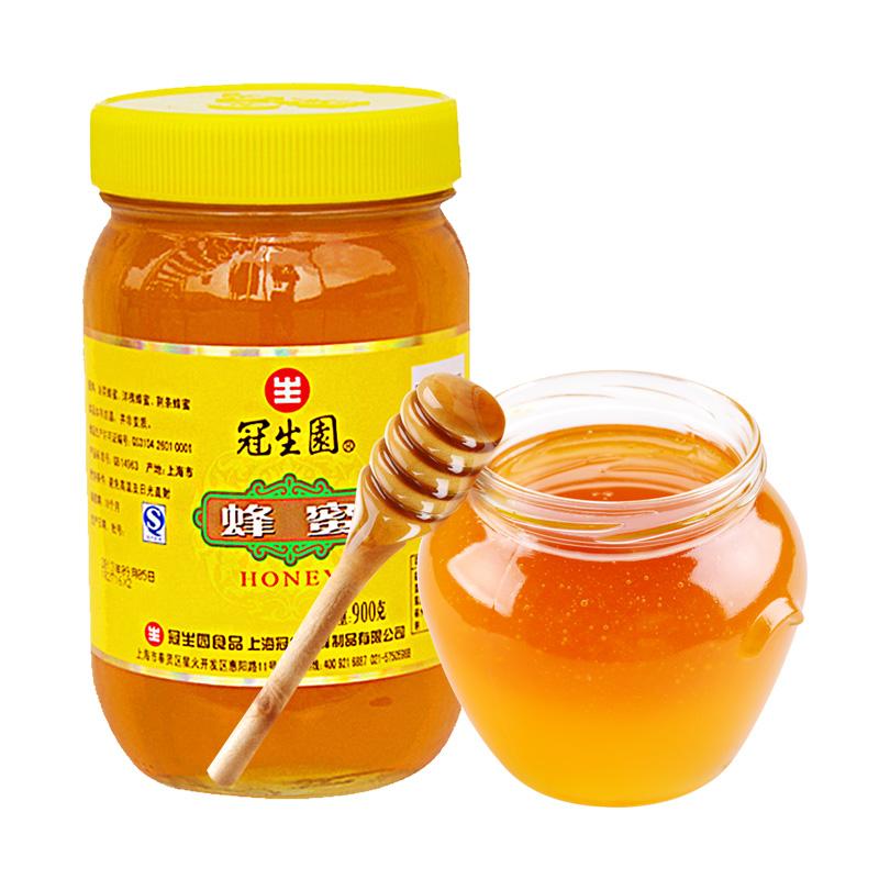 冠生园 百花蜂蜜900g/瓶 自然蜂制品花蜜适冲饮 无污染量贩大瓶装