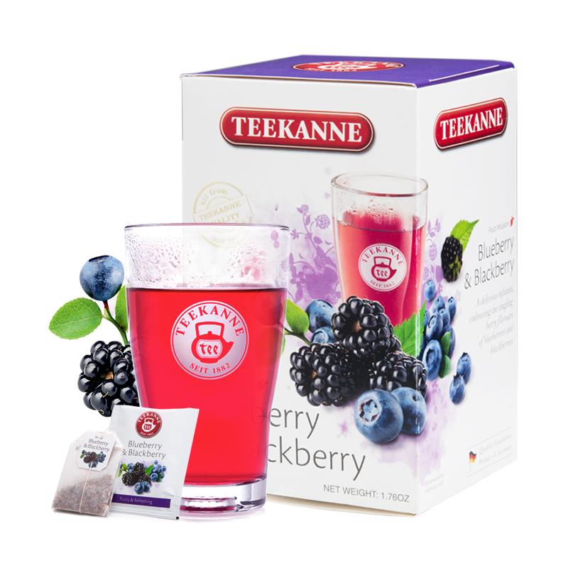 包冷泡茶叶 20 蓝莓黑莓味水果茶包花果果粒茶袋泡 teekanne 德国进口