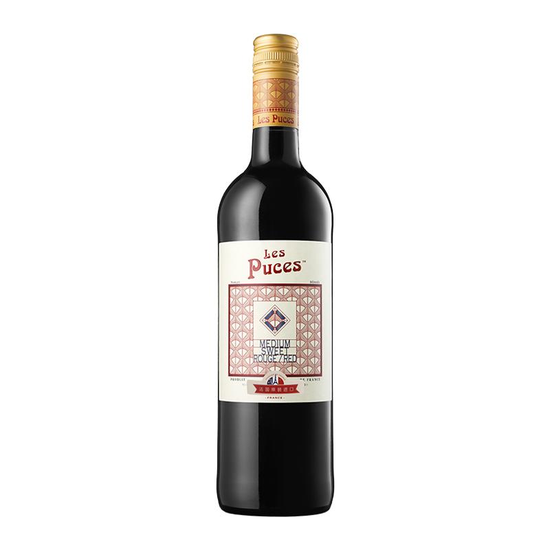 悦俪半甜红葡萄酒法国原瓶进口红酒单支 750ml CASTEL