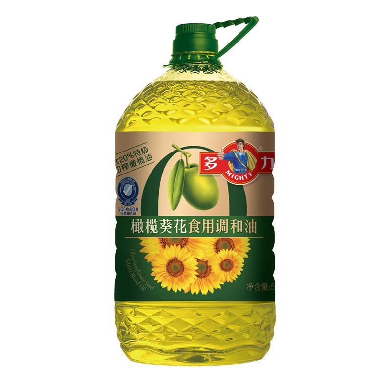 特级初榨橄榄油桶装植物油 20 含 5L 橄榄葵花调和食用油 多力