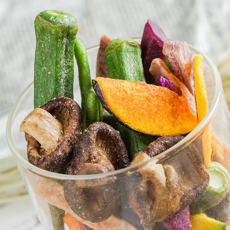 熊孩子综合蔬菜干106g即食蔬菜脆香菇秋葵果蔬脆片蔬果干零食