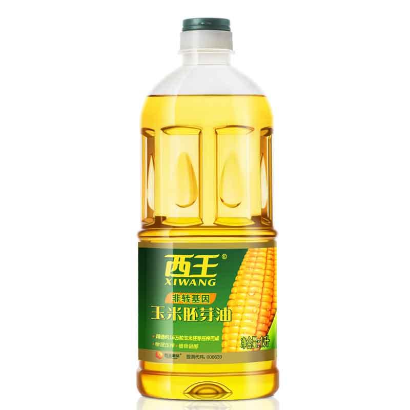 西王 玉米胚芽油1L 非转基因 植物甾醇 压榨食用油 1