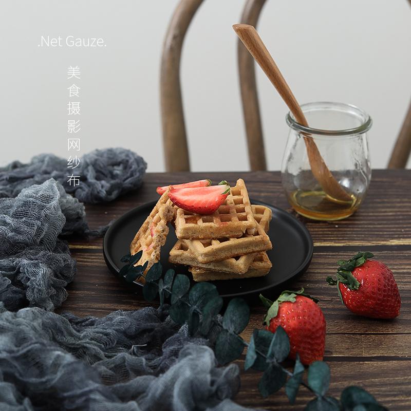 网红茶巾纱巾美食拍照道具ins拍照背景布拍摄道具摄影道