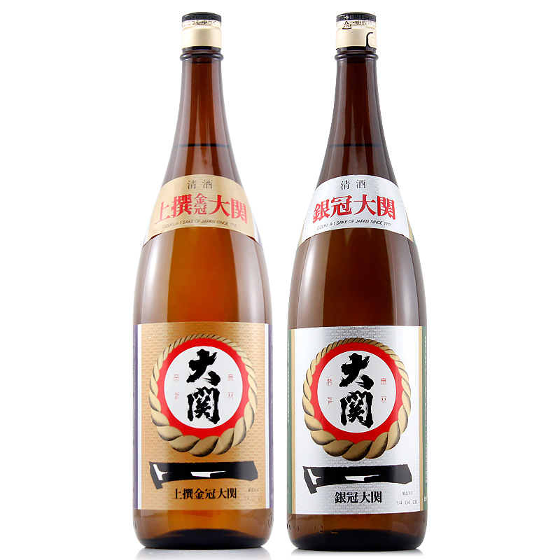 组合日本原装进口酒洋酒酿造米酒清酒 1.8L 大关牌清酒上选金冠银冠