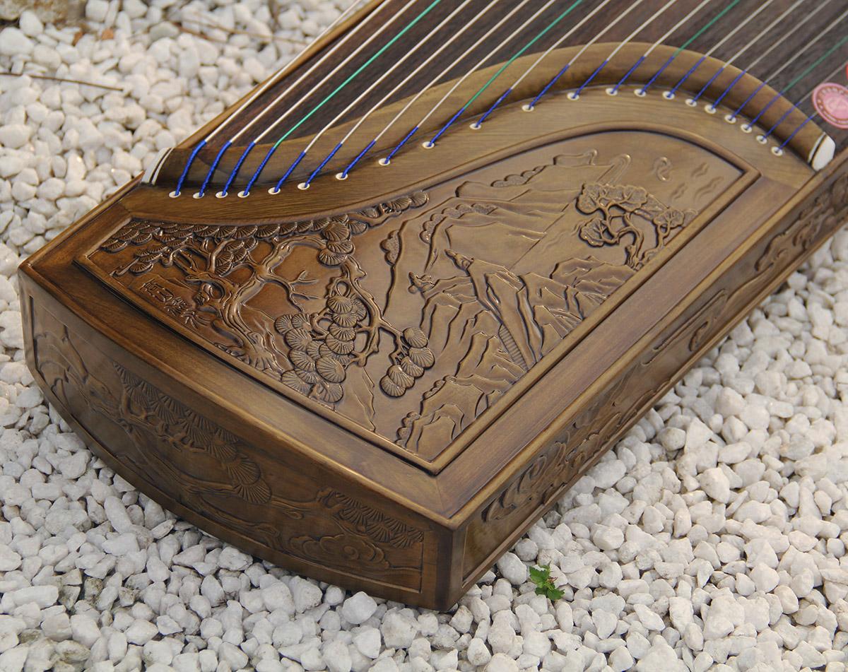 专业十级演奏考级楠木生漆实木雕刻初学者入门古筝琴龙凤九龙山水