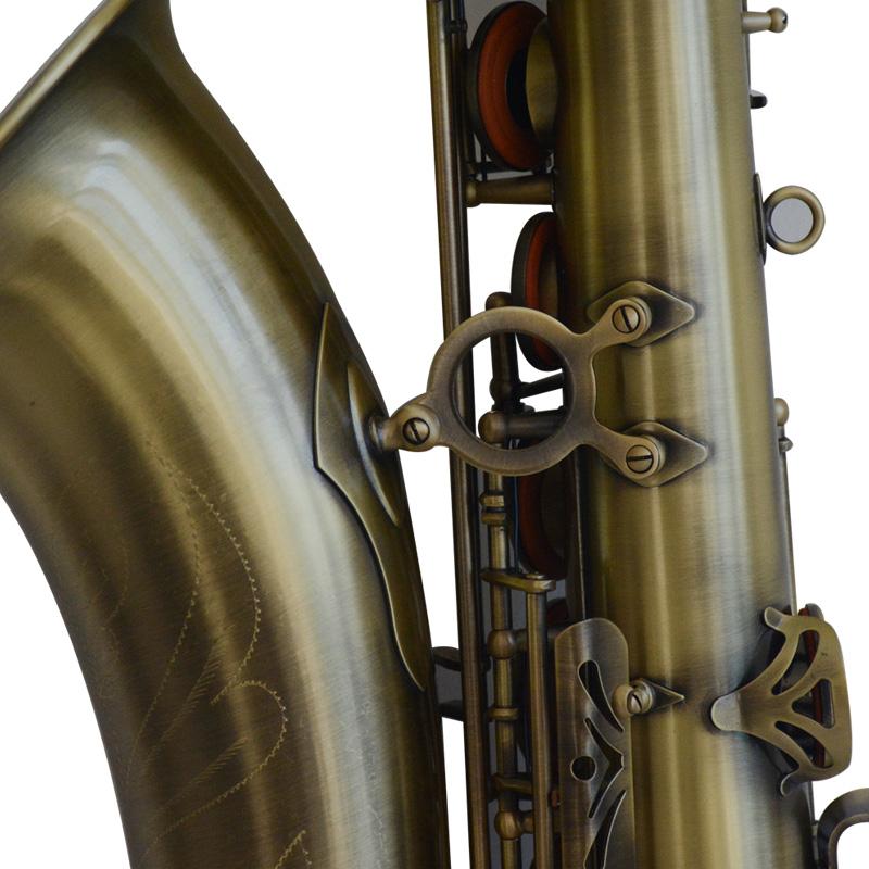 调次中音萨克斯风管低音加固亨韵演奏乐器包邮 B 青古铜降