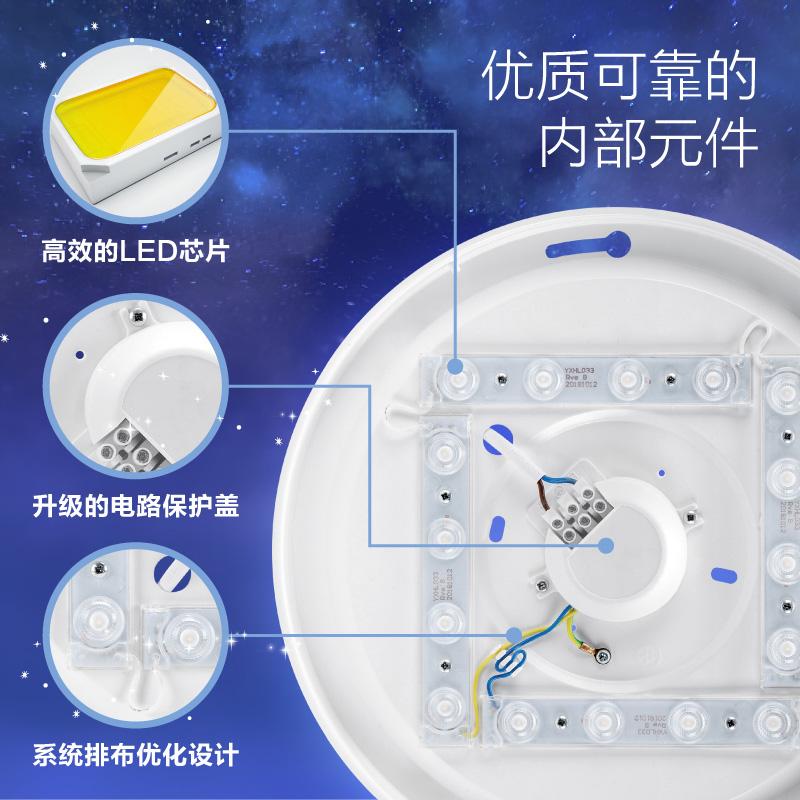 飞利浦led阳台小型厨房走廊过道卫生间浴室厕所吸顶灯圆形卧室灯