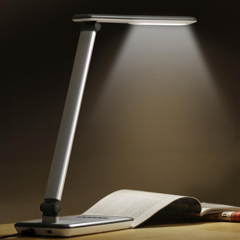 台灯折叠学生书桌儿童学习阅读宿舍卧室床头小台灯 led 飞利浦台灯