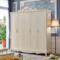 聚法丽莎家具欧式衣柜实木大衣柜卧室木质衣橱三四门法式白色柜子