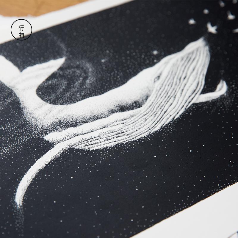 一行物 原创手工丝网版画 Contact 黑白现代简约ins北欧插画包邮