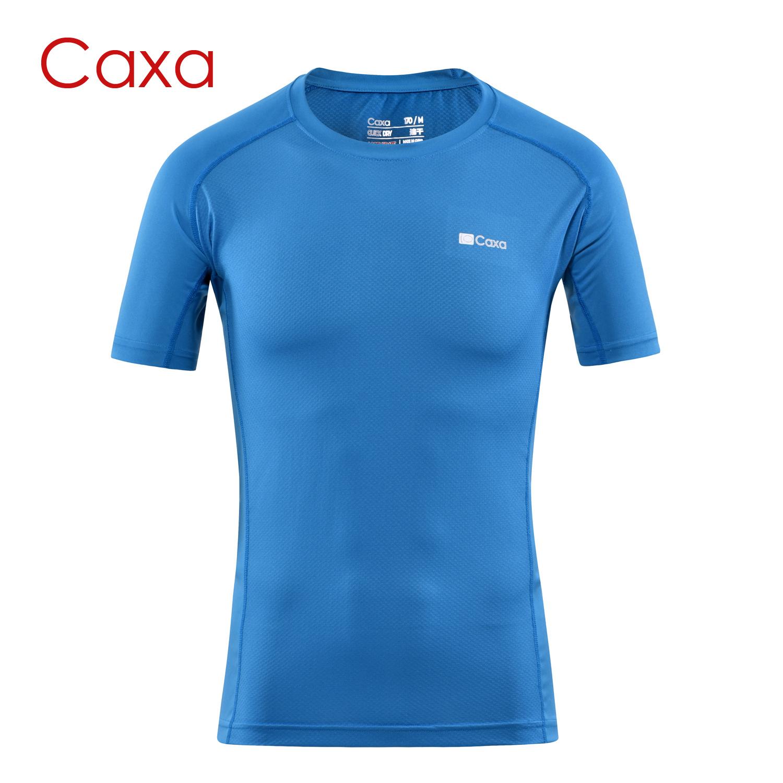 Caxa男款輕薄短袖T恤速乾衣跑步服快乾衣訓練服馬拉松運動服戶外T