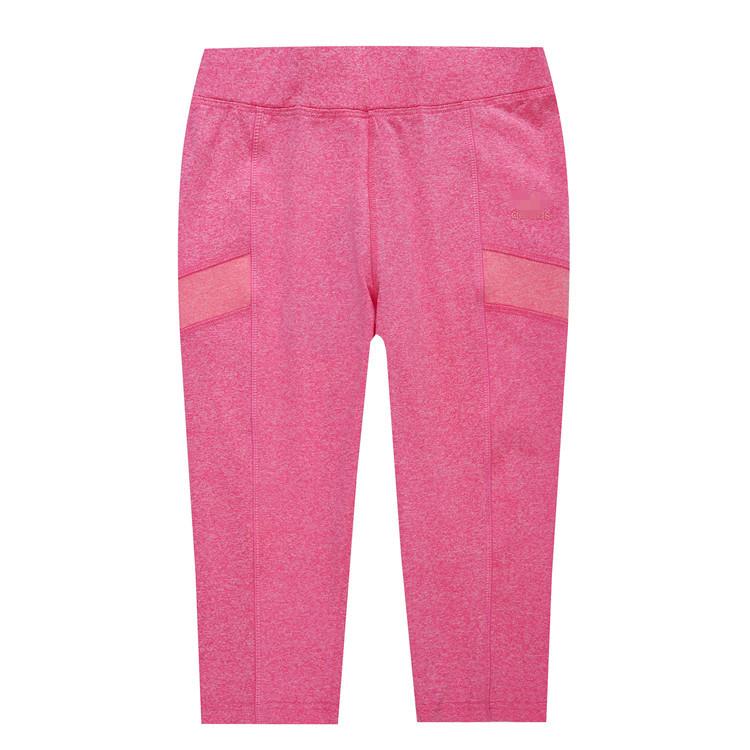 女款拼接運動褲夏季速乾透氣七分褲高彈力健身瑜伽褲