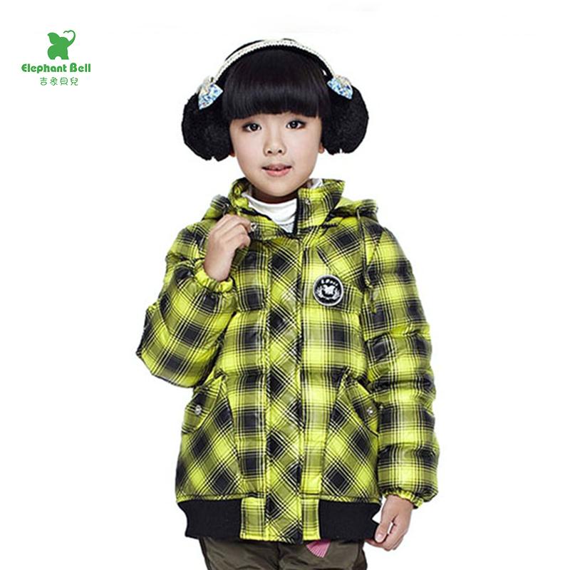 儿童冬装男童女童羽绒服品牌正品鸭绒中大童中长款加厚保暖外套