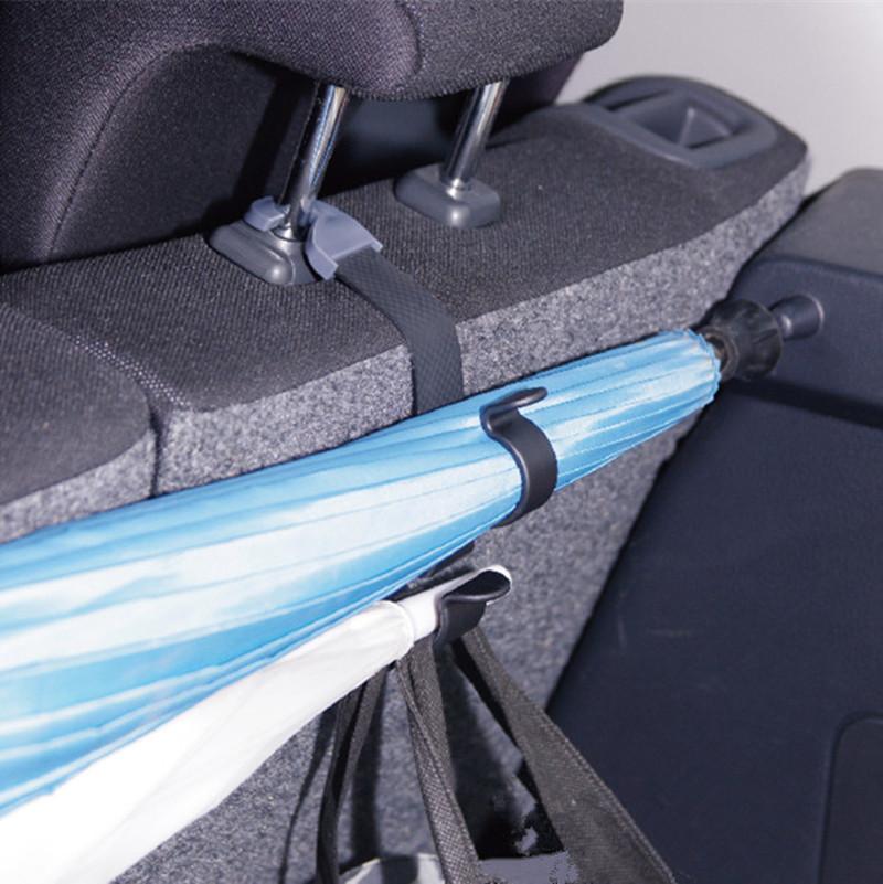 台湾产汽车后备箱雨伞收纳夹车用雨伞挂钩置物多功能通用固定支架